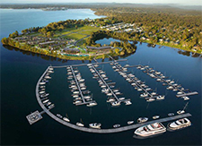 Artist impression of Trinity Point Marina